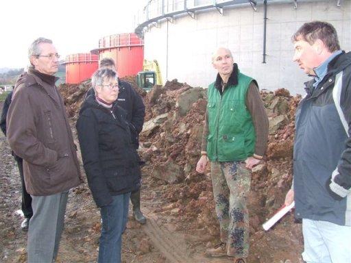 Die CDU–Kreistagsfraktion Northeim besichtigt erste Bauabschnitte der Biogasanlage in Hardegsen.