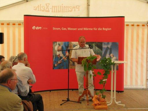 Heinz Schlote, Vorsitzender der Anbauervereinigung