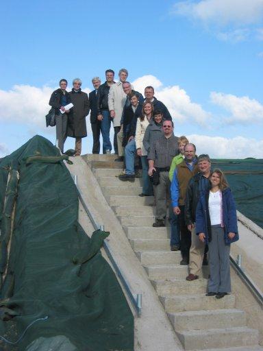 Journalisten aus den USA und Kanada im Rahmen einer Rundreise durch Deutschland beim Stopp in Hardegsen.