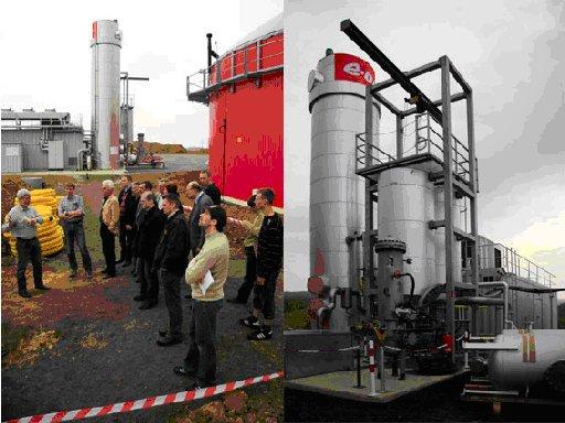 Mitglieder des VDE-Bezirksverein Kassel e.V. machen Halt auf der Biogasanlage Hardegsen.